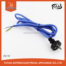 saa approved two or three core plug red or blue textile/fabric line 4v-75 0.5mm2 0.75mm2 1.0mm2 power cord/cable for steam iron