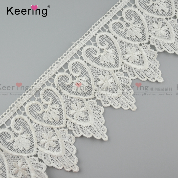 wholesale kids white polyerster lace trimming for kids clothes WLCP-001