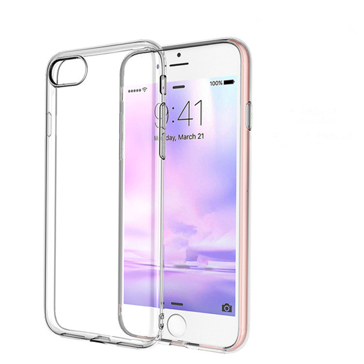 CustomTransparent Clear TPU Case for Iphone 7 Mobile Phones