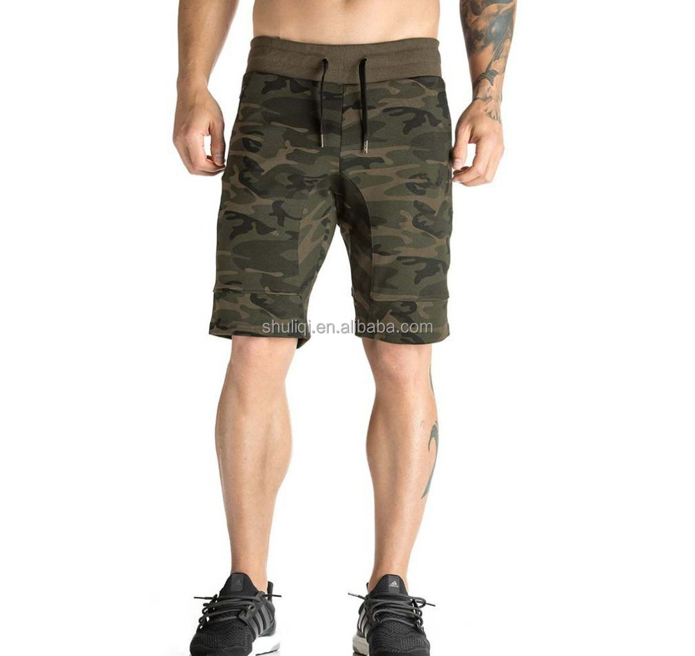 Revolution on Aesthetic CAMO SHORTS jogging shorts mens on training