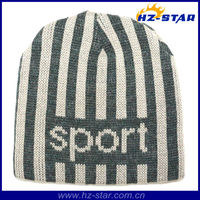 HZM-13672 2016 new football fans knitted hat and cap