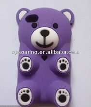 Mobile phone 3D bear silicon case for iphone 4g 4s