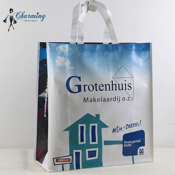 Hot sale trendy style white mixed blue pp big bags recycling
