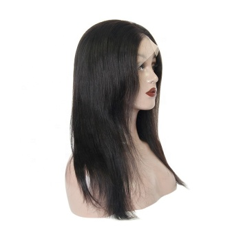 Unprocessed full lace wig density raw indian virgin human hair