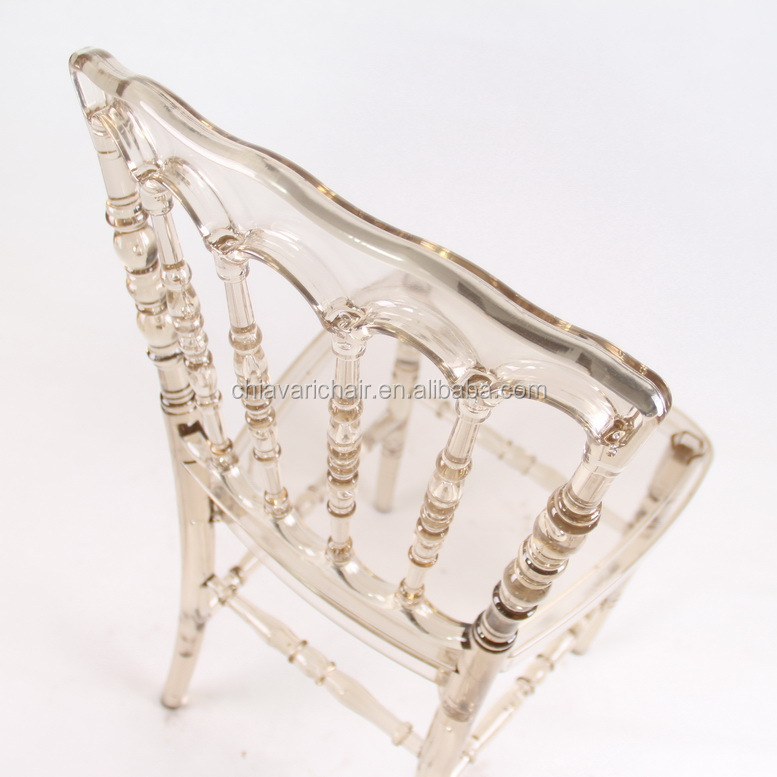 Outdoor Crystal Clear Resin Bridal Wedding Napoleon Princess Chair