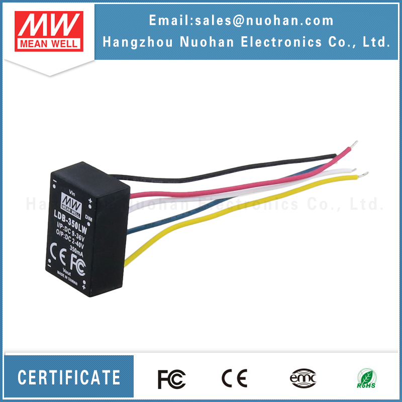 Meanwell DC-DC Buck-Boost LDB-350LW constant current led drivers for 350ma