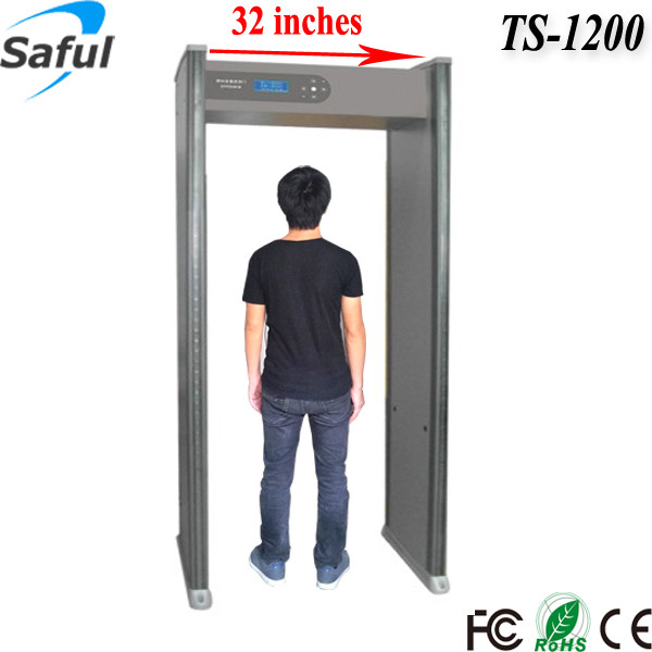 12 zones wide passage door frame metal detector for preventing gun and bome