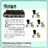 4HE1 Gasket Set + Cylinder Head + Liner Kit Bundle for Isuz u 4.8L 4HE1 Engine