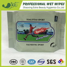 40pcs hand and face cleaning wet wipes cool refreshing sports wipes