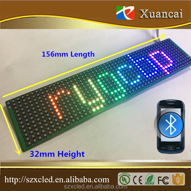 New opened PCB board P2.5/3-12x48RGB (32x156mm) Machine advertising use RGB LED programmable mini electronic signs