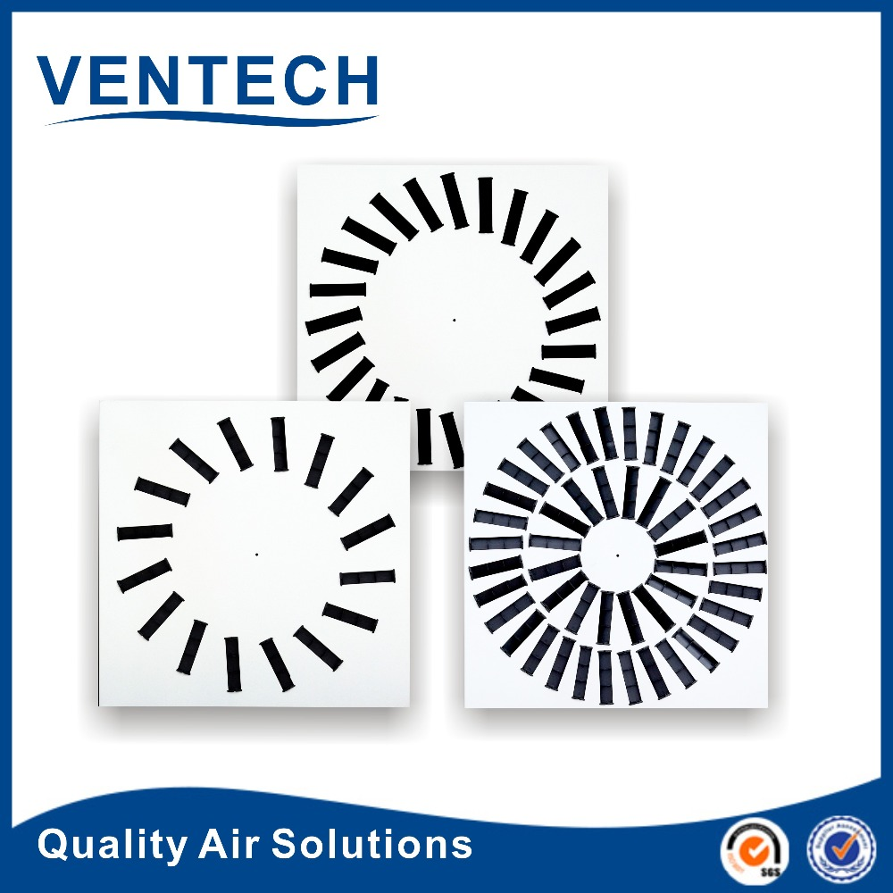 Ventech temperature controller square ceiling fixed swirl air diffuser for air ventilation used