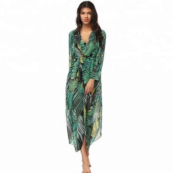 Wholesale Fashion Casual Sexy Floral Printed Tunic Women Dresses