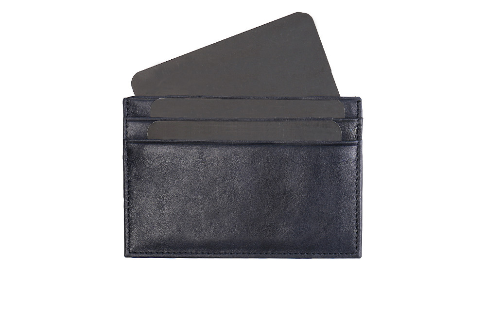 Italian vegetable tanned leather RFID Blocking men slim card holder genuine leather men thin credit card holder