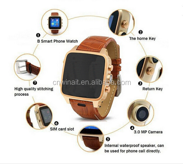 SmartWatch with 5mp Camera ROM:4G+RAM:512MB Support Wifi Bracelet Bluetooth Watches