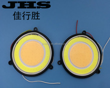 DRL COB White/Pink Round Fog Light Source Led auto DRL Car Daytime Running Driving Lights COB dual color DC12V