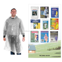 disposable plastic raincoat rain poncho with cheaper price