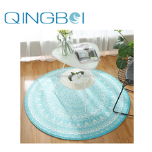 Factory high quality green custom print round under table mat