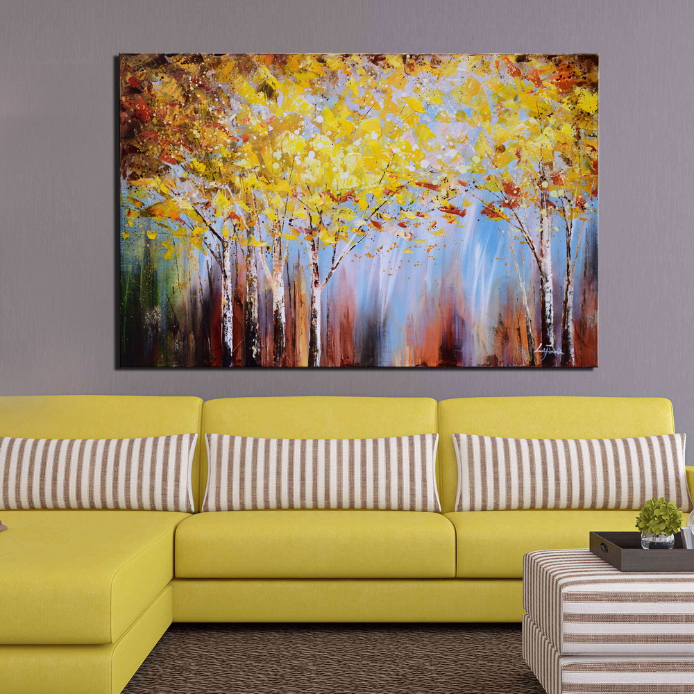 Hot Selling 3 Pieces Modern Group Abstract Painting