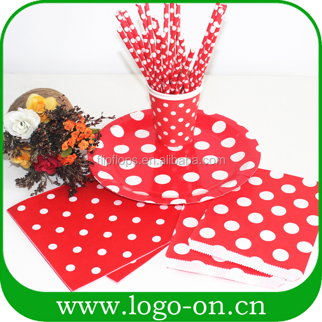 Party Favor Disposable cheap Paper Plates and cup for Picnic BBQ