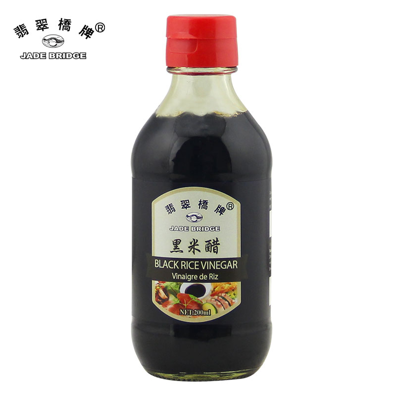 Bulk Organic Black Rice Vinegar - 200ml