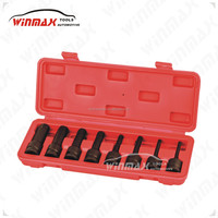"WINMAX WT01218 1/2"" DR 8PC Hex Impact Bit Socket Set"