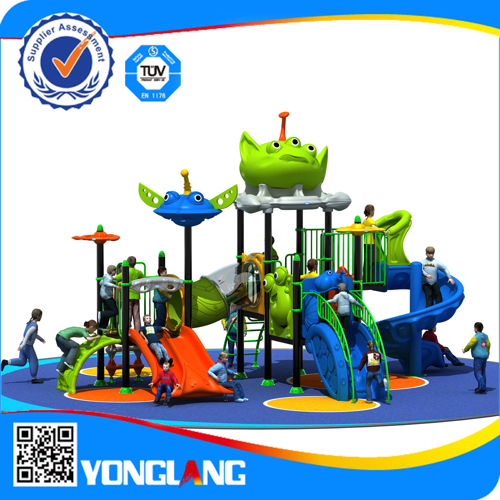 Newest design curved slide playground slides,kids outdoor playground euipment with plastic slides