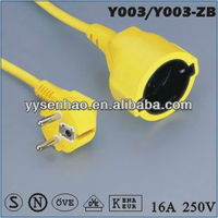 german standard extension cord VDE power cord