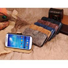 Deep Blue Golden Phoenix Pu Leather+PC Wallet Cover for Samsung Galaxy S4 i9500