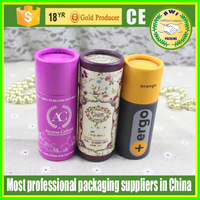 paper clothing packing tube box eco paper kraft lip balm tubes with customized logo