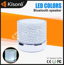 Remote Control Round mini BT Blue tech tooth Speaker A36 with Led Light of Shower Speaker