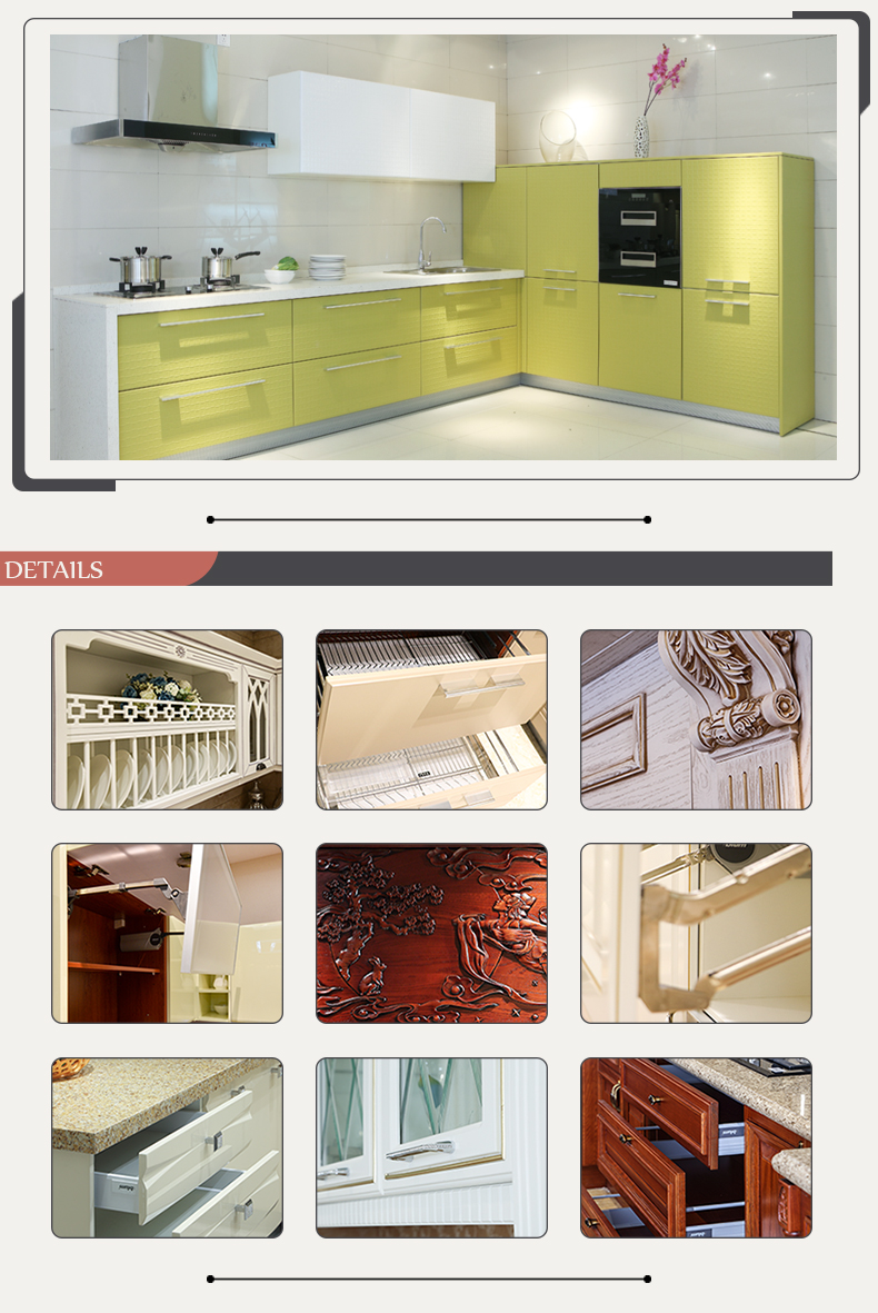 Fair price PVC melamine modern design kitchen cabinet