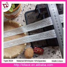 2017 summer fashional texitle elastic lace trim for lingerie