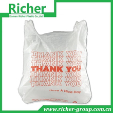 T Sack Plastic Grocery / Shopping Bags Thank You White