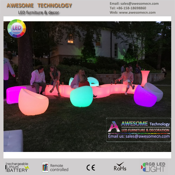 outdoor led lounge furniture soft led fatboy sofa chair (SF112)