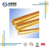 Decorative Brass Pipe thick walled brass tube