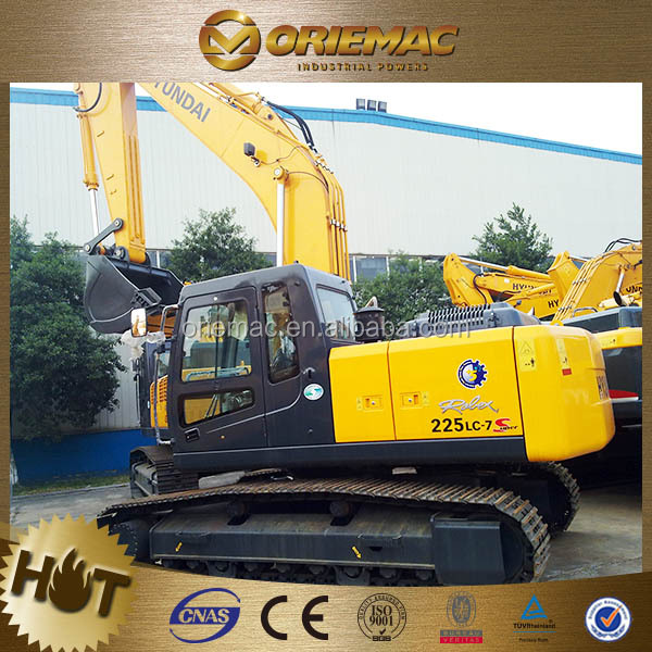 China excavating machinery hyundai 220 excavator R225LC-7 with high quality
