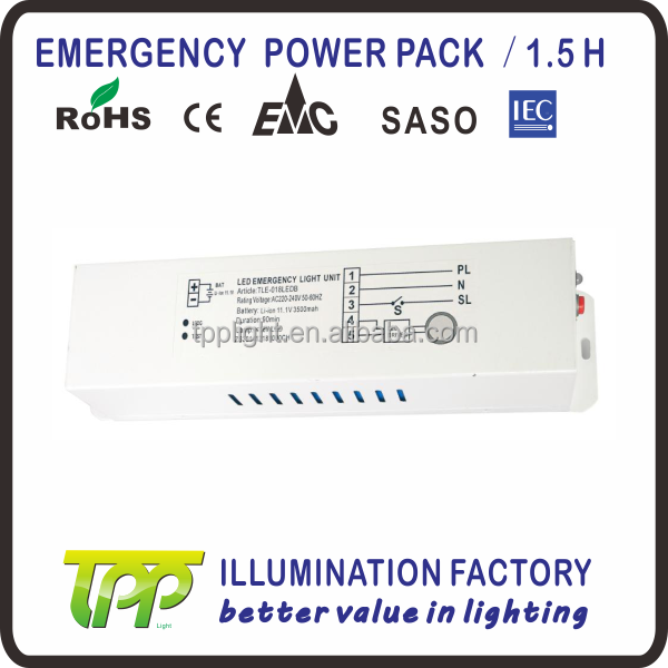 Emergency Conversion Kit TLE018LEDB-1.5hours duration LED emergency light power pack