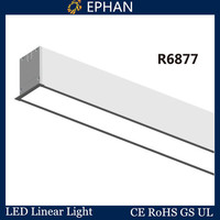 Ephan UL listed recessed ceiling linear led lighting fixtures
