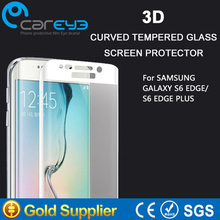 clear 3D hot bending 100% full cover with design tempered glass screen protector for Samsung Galaxy S6 edge & S6 edge plus