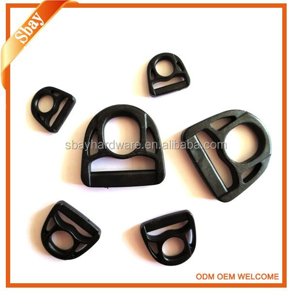 Plastic D ring belt buckle for handbag accessory