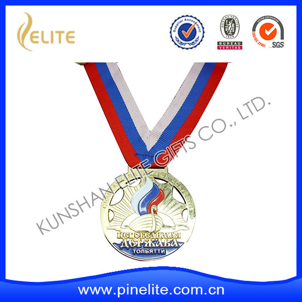 custom production commemorative medal,metal olympic metal medal with ribbon