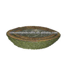 Rustic green oval eco friendly garden flower pots for plant