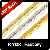 KYOK hot selling metal curtain poles , metal aluminum curtain poles for home decoration