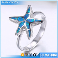 2016 New Best Selling starfish animal shaped rings