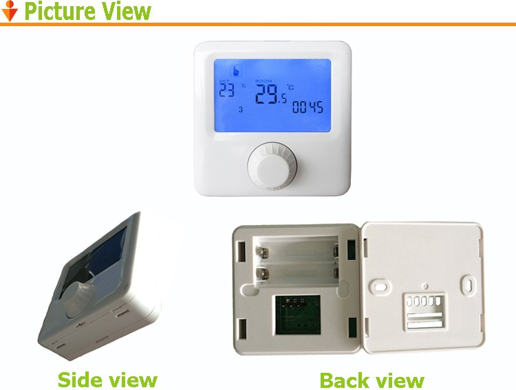 Cheaper simple programmable room boiler thermostat,digital thermometer supply