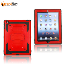 Factory Wholesale New Hybrid Impact Combo Armor 2 in 1 Robot Hard Shell PC Plastic Silicone Tablet Case for iPad 2 3 4