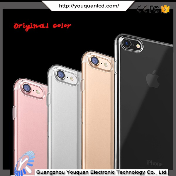 Ultra thin transparent phone accessories cheap silicon case for iphone 7