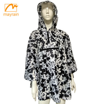 2017 popular adult cape pattern fashion printed ladies poncho coat