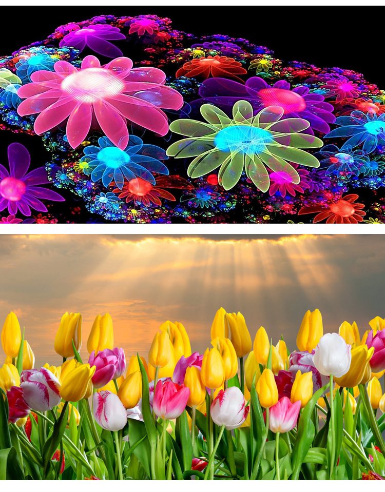 Custom Natural beautiful flower wallpaper