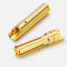 female male 4mm gold plated rc bullet plug connector for esc motor